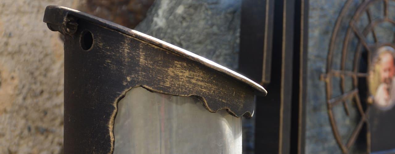 mr steel design - Beispiel einer auf das Grabmal abgestimmten Laterne